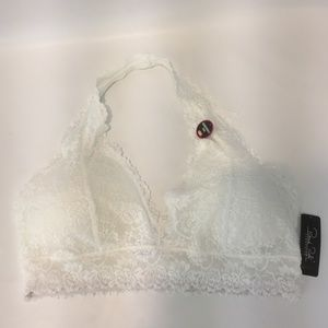 RENE ROFE  (32-36 C ) Halter White Lace Bra